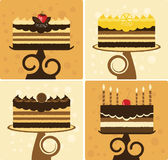 Bolos de chocolate Fotos de Stock Royalty Free