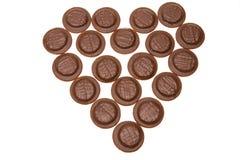 Bolos de chocolate fotografia de stock