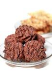 Bolos de chocolate Foto de Stock