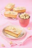 Bolos de chocolate brancos com porcas de macadâmia Fotografia de Stock Royalty Free