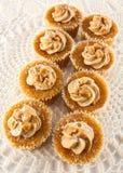 Bolos de creme do caramelo Imagem de Stock