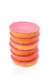 Bolos de crosta de gelo cor-de-rosa Fotografia de Stock