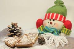 Bolos de mel do Natal fotografia de stock