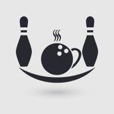 Bolos del icono Cafetería, café, lugar de abastecimiento Indicador del pictograma ilustración del vector