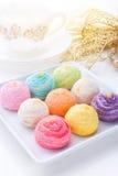 Bolos do arco-íris fotos de stock