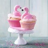 Bolos do copo do flamingo fotos de stock royalty free