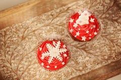 Bolos do Natal Fotografia de Stock Royalty Free
