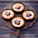 Bolos dos muffin de blueberry Foto de Stock Royalty Free