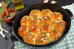 Bolos luxúrias do jantar caseiro, vista superior fotografia de stock