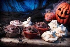 Bolos para Halloween Fotografia de Stock Royalty Free