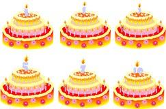Bolos para o aniversário Fotos de Stock Royalty Free