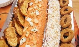 Bolos salgados com queijo e tomates Imagem de Stock