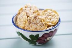 Bolos soprados do milho e do quinoa Foto de Stock Royalty Free