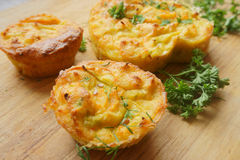Bolos, vegetais dos queques Imagem de Stock