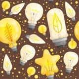 Bolpatroon Lichte de verlichting vectorbeelden van de lampdiode voor textielontwerpprojecten stock illustratie