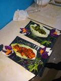 Chicken Hariyali and Tikka kabab stock image