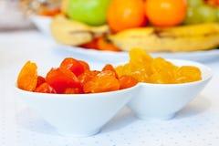 Bols d'abricots secs Photos libres de droits