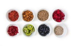 Bols de nourriture saine Images stock