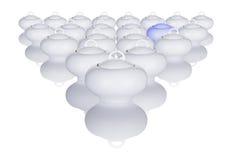 Bols de sucre blanc disposés dans une configuration   Image libre de droits