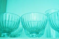 Bols en verre vides de confiture photo stock
