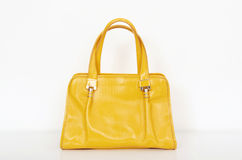 Bolsa amarela bonito do verão Imagem de Stock Royalty Free