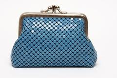 Bolsa azul Fotos de archivo