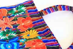 Bolsa bordada floral mexicana imagens de stock royalty free