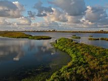 The Bolsa Chica Ecological Preserve & Wetlands in Huntington Beach, California. This scenic ecological preserve in Huntington Beach, California near the Pacific stock images