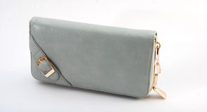 Bolsa cinzenta da mulher fotografia de stock royalty free