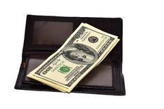 Bolsa com dólares Foto de Stock
