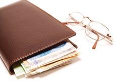 Bolsa com dinheiro Imagem de Stock