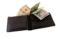 Bolsa com dinheiro Imagens de Stock