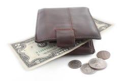 Bolsa com dinheiro Fotografia de Stock Royalty Free