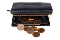 Bolsa com fendas do ouro Imagens de Stock Royalty Free