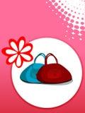 Bolsa com flor Foto de Stock