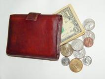 Bolsa com moedas EUA Imagens de Stock Royalty Free