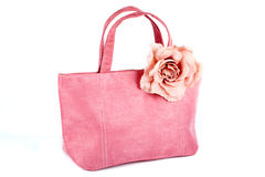 Bolsa cor-de-rosa Imagem de Stock
