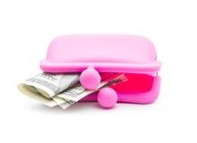 Bolsa cor-de-rosa Fotos de Stock Royalty Free