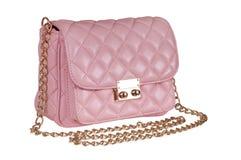 A bolsa cor-de-rosa das senhoras Fotografia de Stock Royalty Free