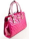 Bolsa cor-de-rosa de Leathe fotografia de stock