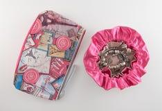 Bolsa cosmética de la joyería del bolso y del viaje Imágenes de archivo libres de regalías