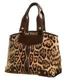 Bolsa das mulheres do leopardo Fotos de Stock Royalty Free