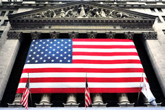 Bolsa de acción de Nueva York Wall Street Foto de archivo libre de regalías