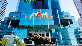 Bolsa de acción de Shenzhen Foto de archivo libre de regalías