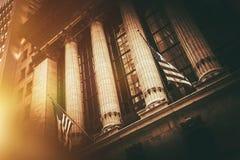 Bolsa de acción Nueva York fotografía de archivo