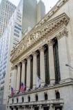 Bolsa de acción de NY, Wall Street Imágenes de archivo libres de regalías