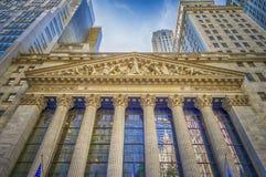 Bolsa de acción de NY, Wall Street Fotografía de archivo