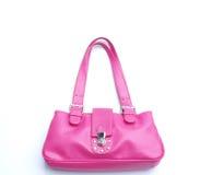 Bolsa de couro cor-de-rosa Fotografia de Stock