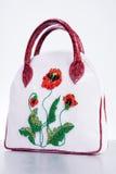 Bolsa de couro da mulher. Mão - feita Imagem de Stock