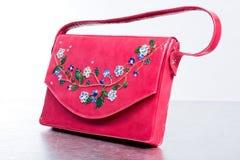 Bolsa de couro da mulher. Mão - feita Imagem de Stock Royalty Free